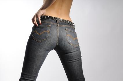 Gut sitzende Jeans