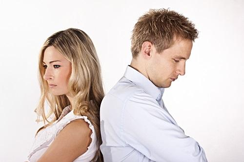 Unzufriedenes Paar